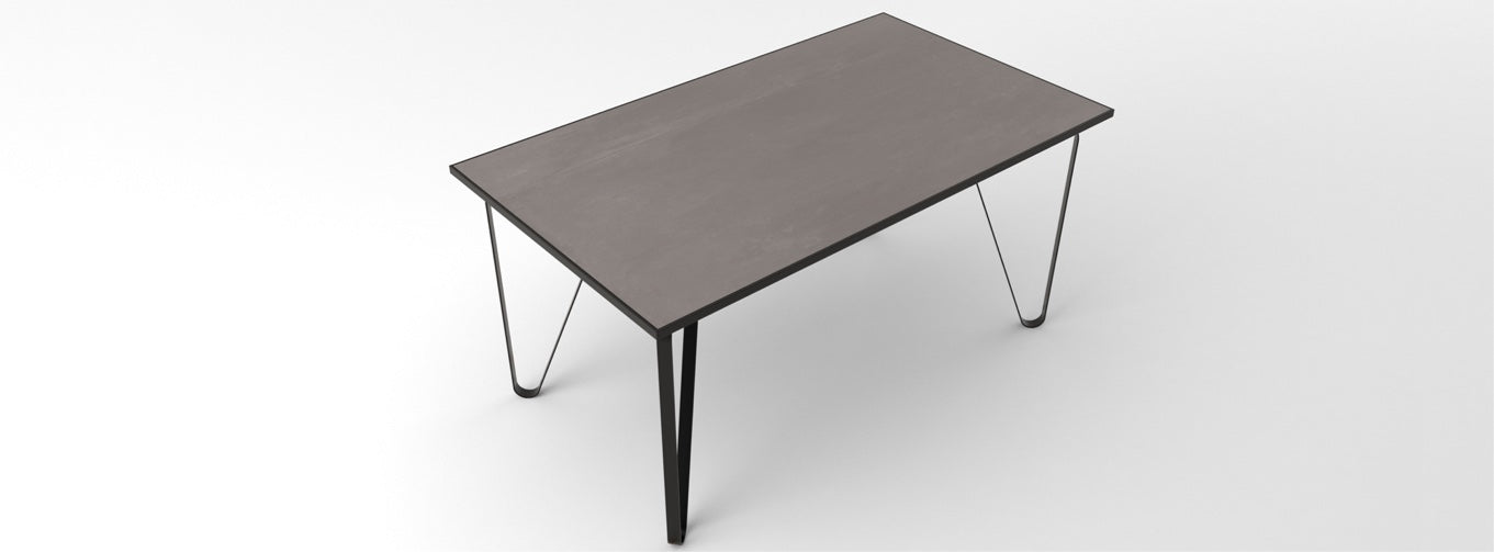 Ceramic tile table with black legs and italian tiles - Noah