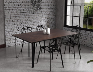 Ceramic tile table with black legs and italian tiles - Giorgia