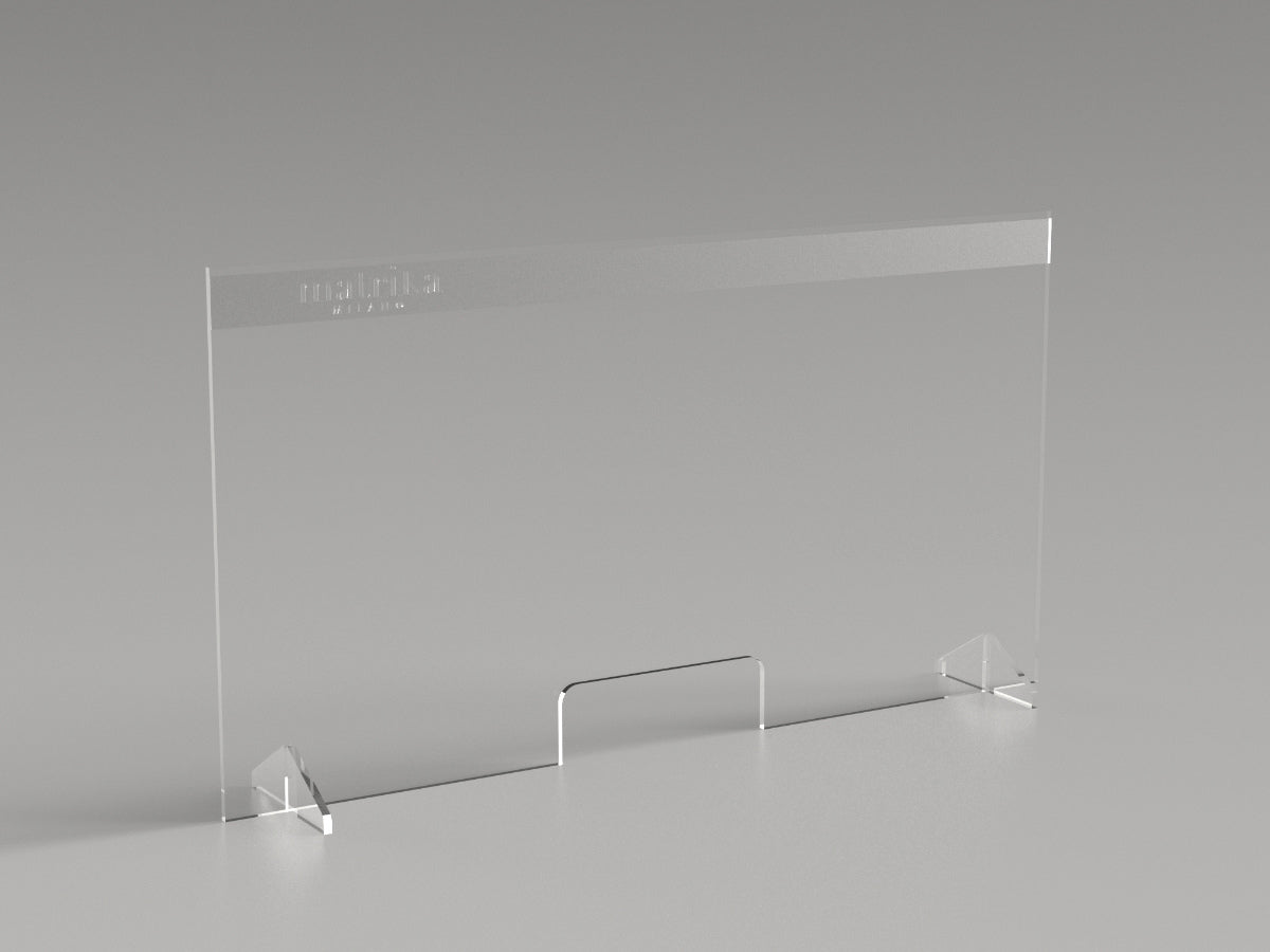 Reception security plexiglass barrier