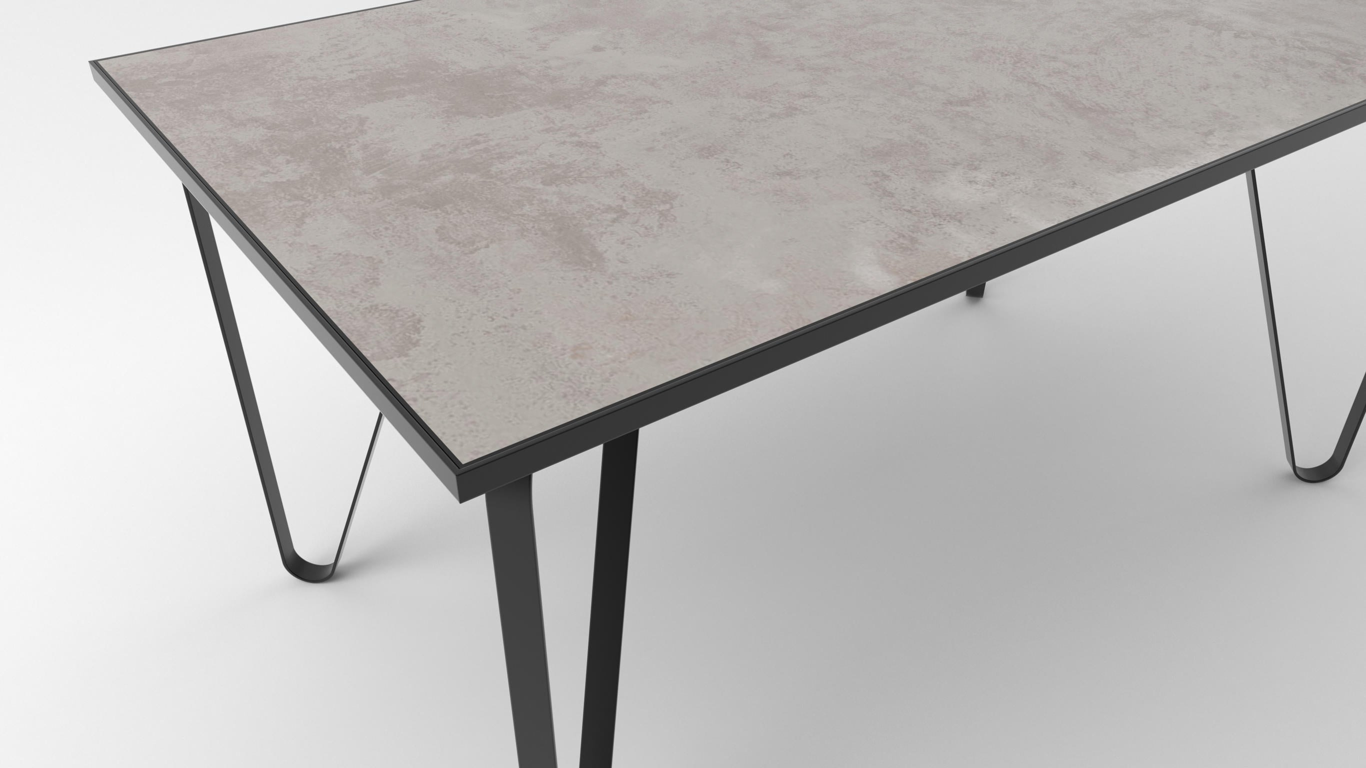 Ceramic tile table with black legs and italian tiles - Ettore