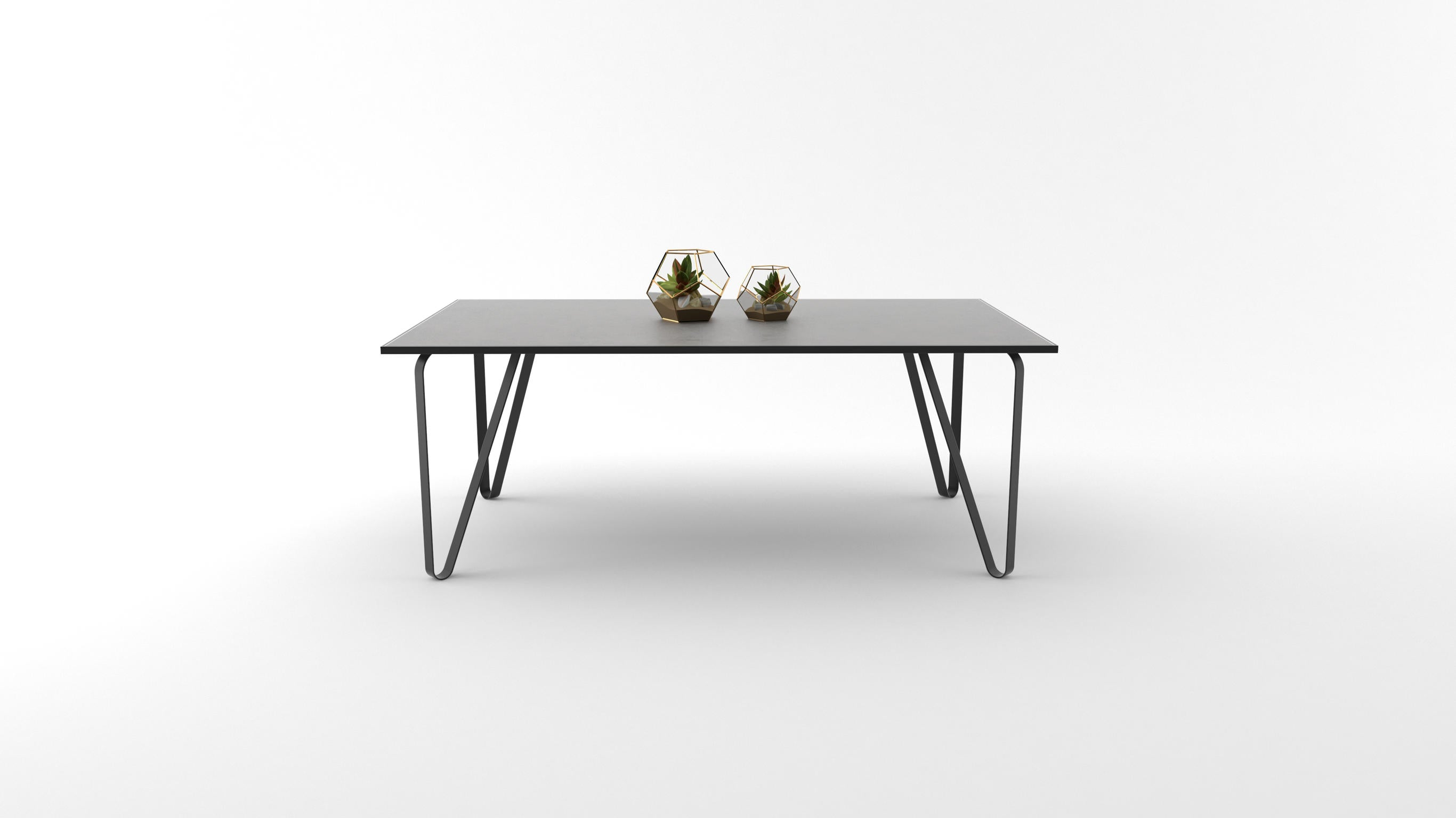 Ceramic tile table with black legs and italian tiles - Minal
