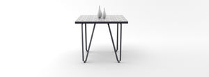 Ceramic tile table with black legs and italian tiles - Amaya