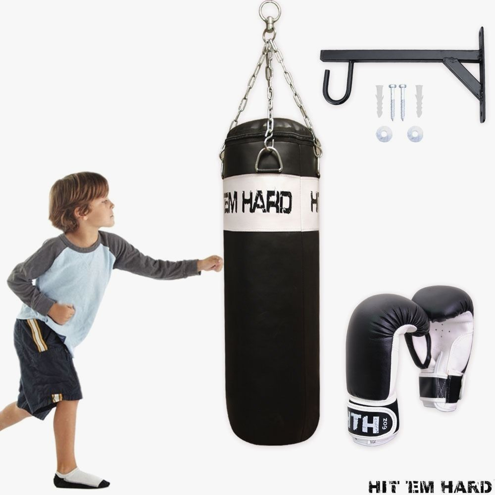 Speed Bag Over The Door Trainer Kids Boxing Kick Box Workout Mma Timer Hangs