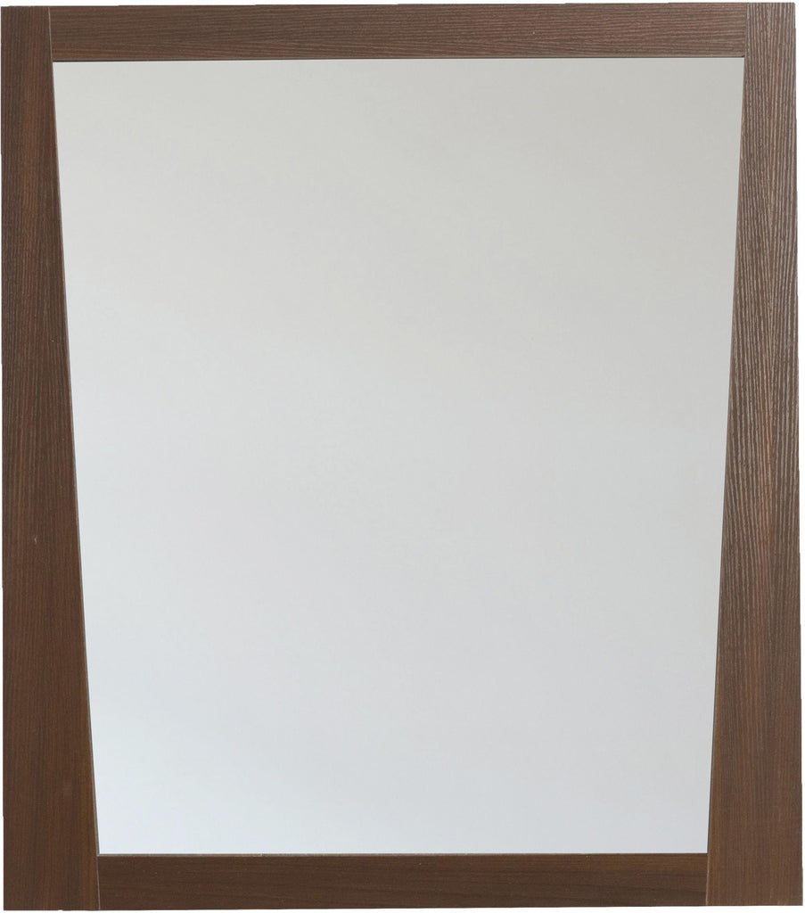 American Imaginations AI-1184 29.5-in. W 33.5-in. H Modern Plywood-Melamine Wood Mirror In Wenge