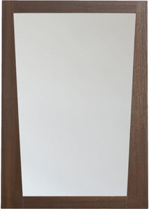 American Imaginations AI-1208 23.5-in. W 33.5-in. H Modern Plywood-Melamine Wood Mirror In Wenge