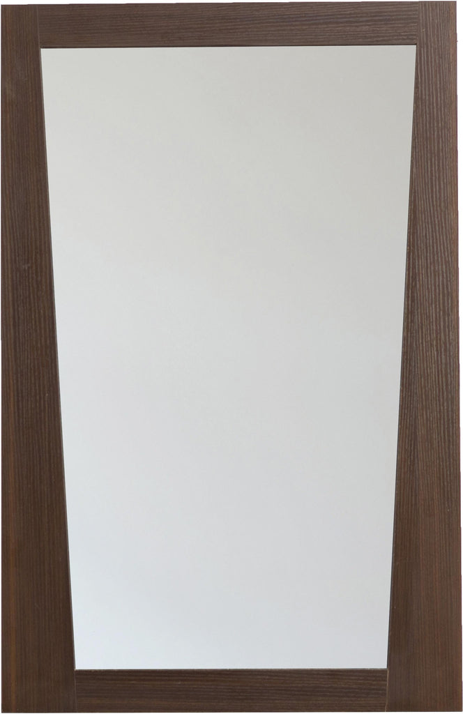 American Imaginations AI-1210 21.5-in. W 33.5-in. H Modern Plywood-Melamine Wood Mirror In Wenge
