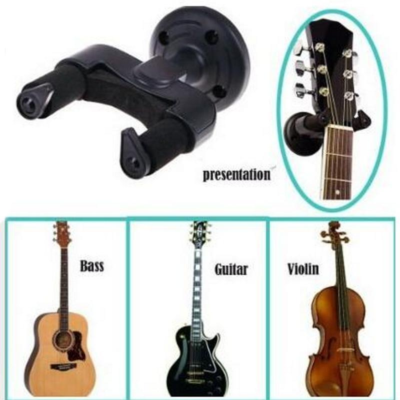 1/2Pcs Easy To Install Electric Guitar Wall Hanger Holder Stand Rack Hook Mount For All Size