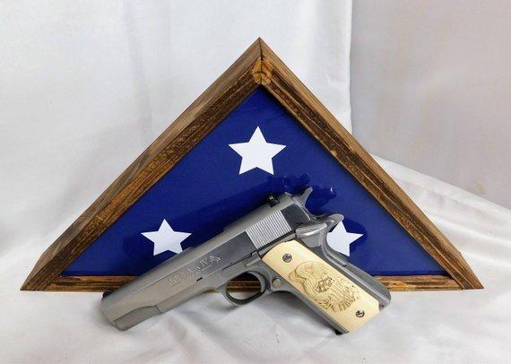Memorial Flag Gun Case Wall Hanger, Gun Concealment Case, Home Decor Gun Box
