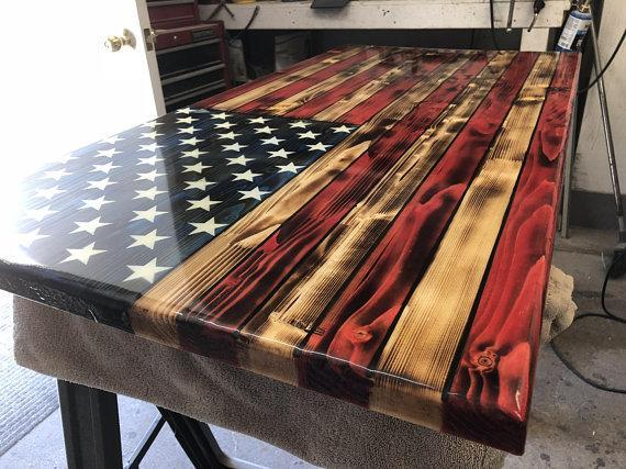 Rustic Color American Flag 24