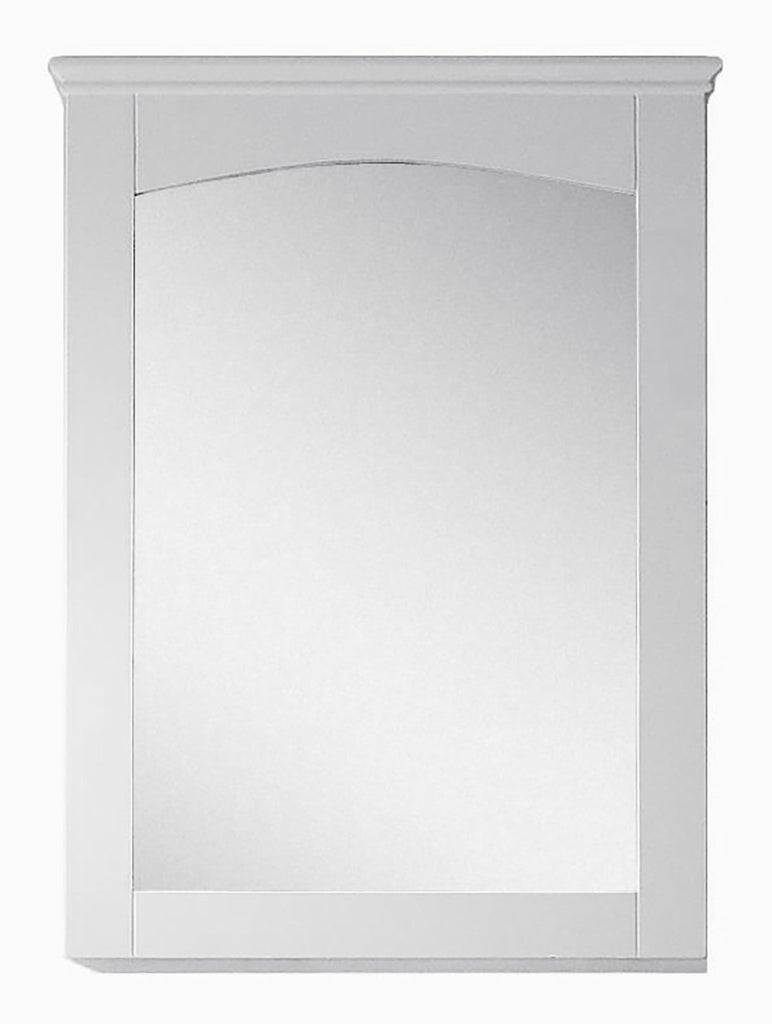 American Imaginations AI-17425 24-in. W 31.5-in. H Modern Plywood-Veneer Wood Mirror In White