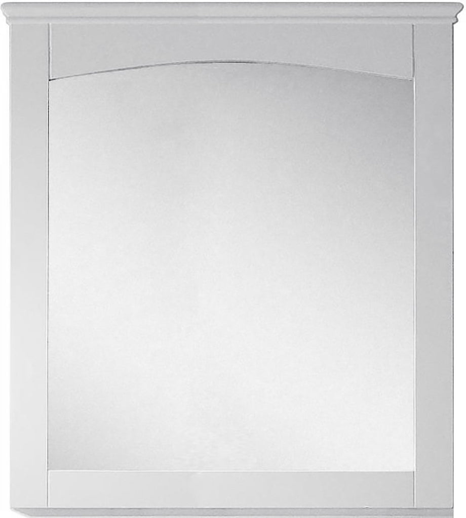 American Imaginations AI-17426 30-in. W 31.5-in. H Modern Plywood-Veneer Wood Mirror In White