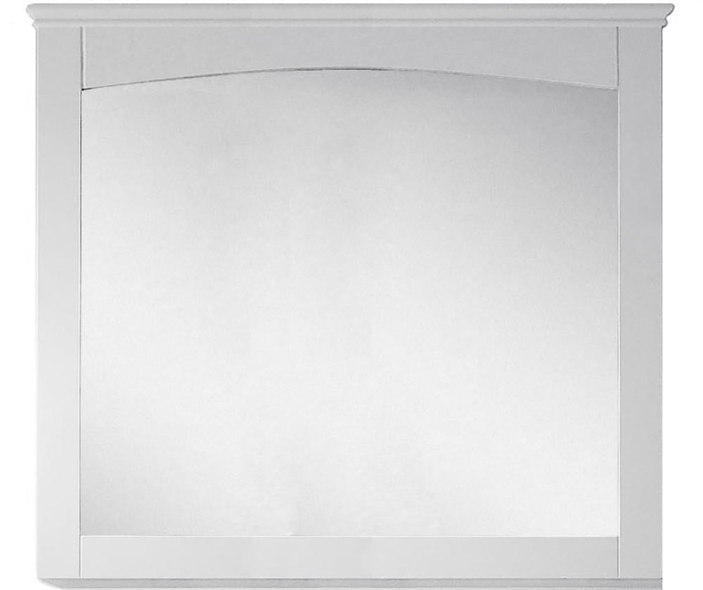 American Imaginations AI-17427 36-in. W 31.5-in. H Modern Plywood-Veneer Wood Mirror In White