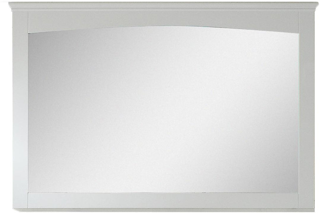 American Imaginations AI-17428 48-in. W 31.5-in. H Modern Plywood-Veneer Wood Mirror In White