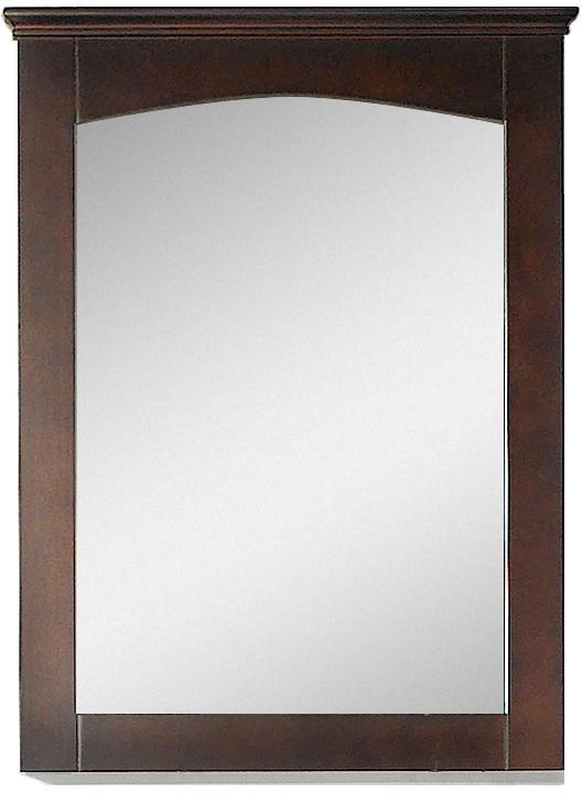 American Imaginations AI-17429 24-in. W 31.5-in. H Modern Plywood-Veneer Wood Mirror In Walnut