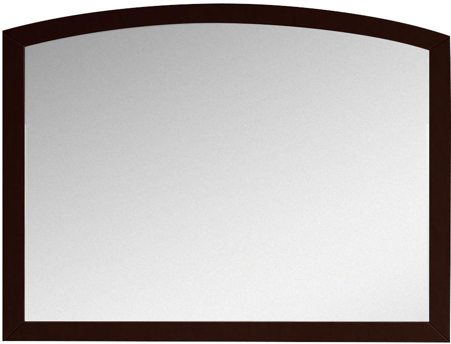 American Imaginations AI-18197 35.43-in. W 25.6-in. H Modern Birch Wood-Veneer Wood Mirror In Coffee