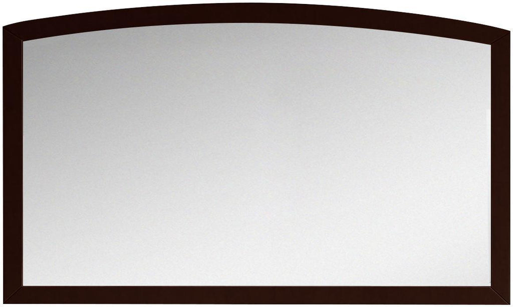 American Imaginations AI-18198 47.24-in. W 25.6-in. H Modern Birch Wood-Veneer Wood Mirror In Coffee