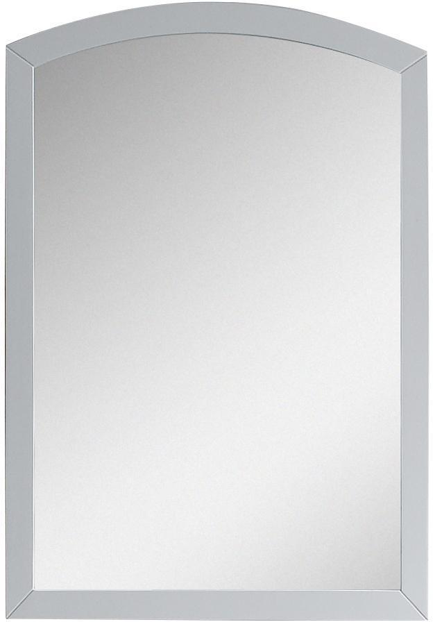 American Imaginations AI-18264 21.65-in. W 31.5-in. H Modern Birch Wood-Veneer Wood Mirror In White