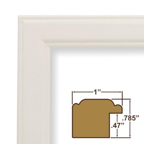 12X15 Picture / Poster Frame, Smooth Wood Grain Finish, 1  Wide, White (434Wh)