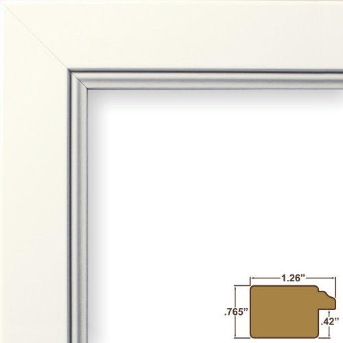 23X34 Poster Frame, Smooth Finish, 1.26  Wide, White, .093  Acrylic, Foamcore (61999Wh)
