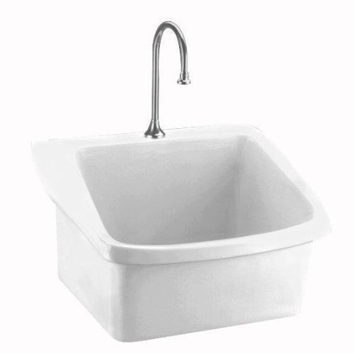American Standard 9047.093.020 Surgeon's Scrub Sink with Center Hole, Low...