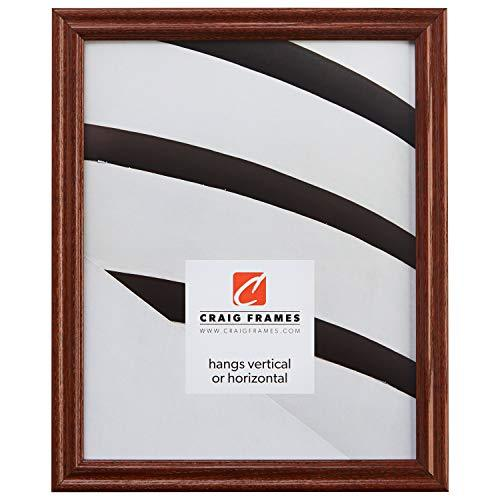 24X33 Picture/Poster Frame, Wood Grain Finish.75  Wide, Walnut Brown (200Ash216)
