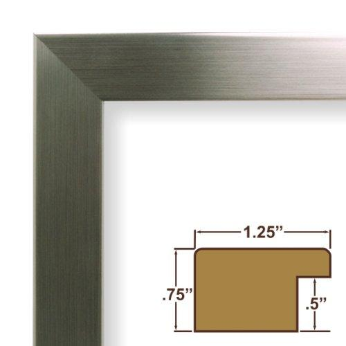 14X17 Picture / Poster Frame, Smooth Finish, 1.25  Wide, Silver Stainless (26966)
