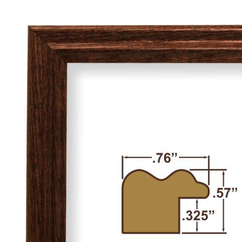 10X12 Picture / Poster Frame, Wood Grain Finish, .75 Wide, Walnut Brown (200Ash216)