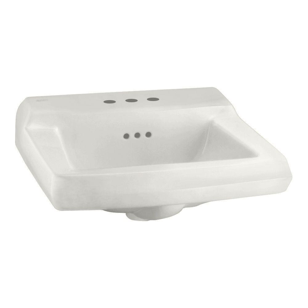 American Standard 0124.024.020 Comrade Wall Sink with Hanger, White