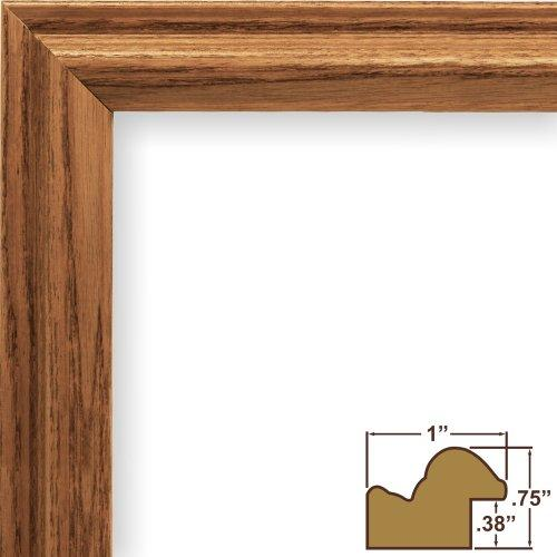 23X34 Picture / Poster Frame, Wood Grain Finish, 1  Wide, Rich Brown (130Ash105)