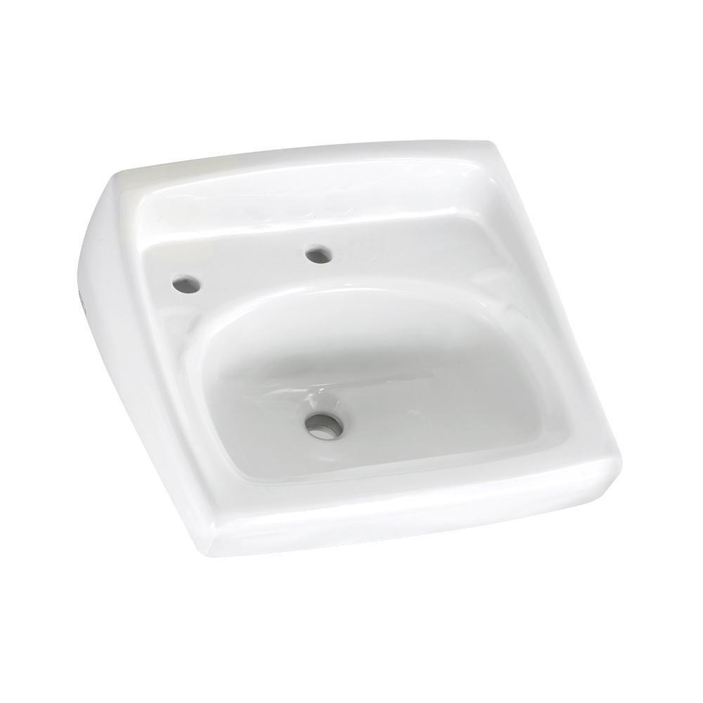 American Standard 0356.115.020 Lucerne Wall-Mount Lavatory Sink with Center...