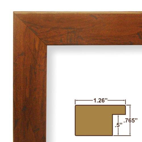 15X23 Picture / Poster Frame, Smooth Grain Finish, 1.26 Wide, Dark Brown (Fm26Wa)