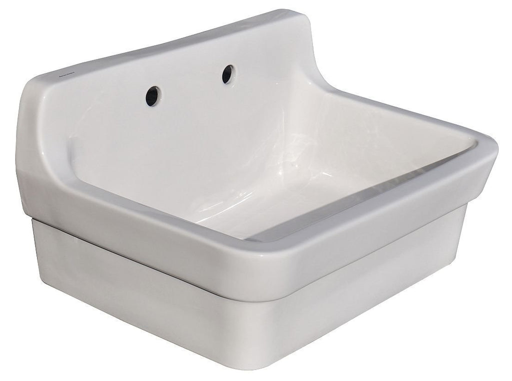 American Standard 9061.193.020 Plaster Work Sink with 8-Inch Faucet Spacing,...