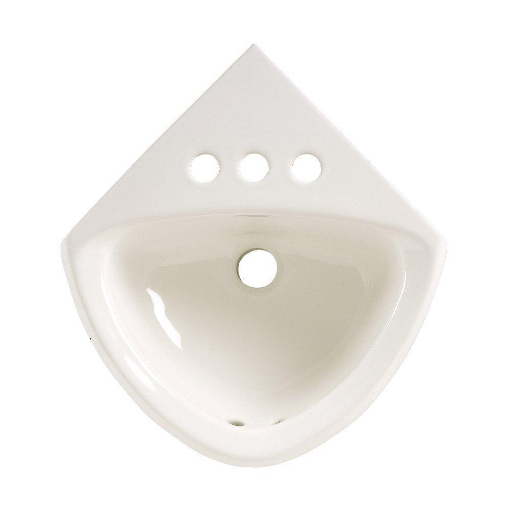 American Standard 0451.021.020 Corner Minette Wall Hung Sink with Faucet...