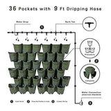 Watering Indoor Outdoor Vertical Wall Hangers Each Wall Mounted Hanging Pot has 3 Pockets 36 Total Pockets in This Set Self Watering Planter