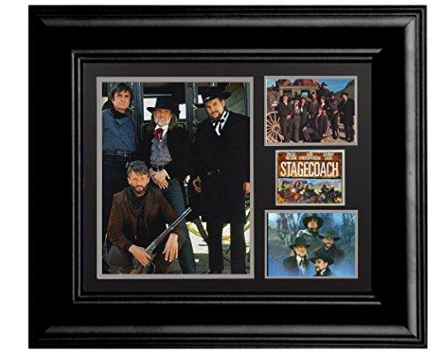 16 X 20 Wood Framed Print Stagecoach The Highway Men Johnny Cash Waylon Jennings Willie Nelson Kris Christopherson