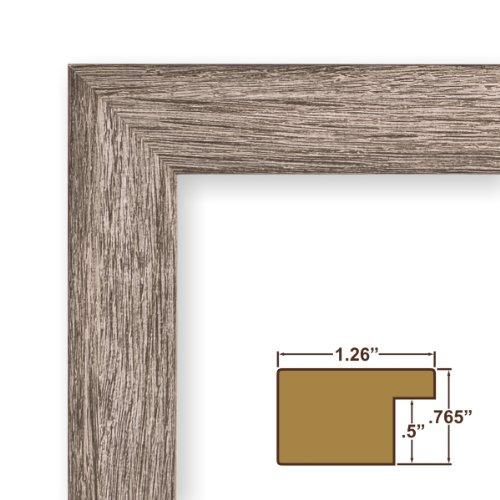 19X27 Picture / Poster Frame, Smooth Grain Finish, 1.26 Wide, Gray Barnwood (Fm26Gry)