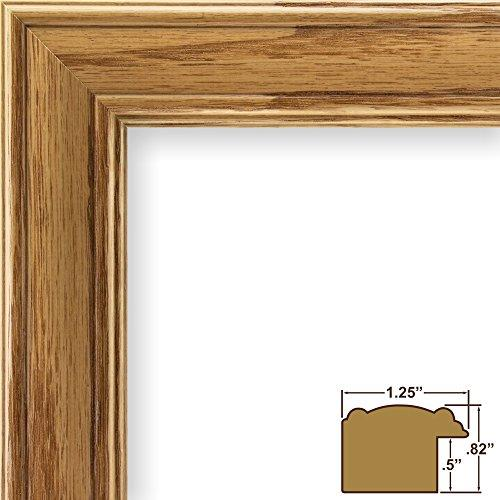 12X18 Picture / Poster Frame, Wood Grain Finish, 1.25 Wide, Honey Oak (59504100)