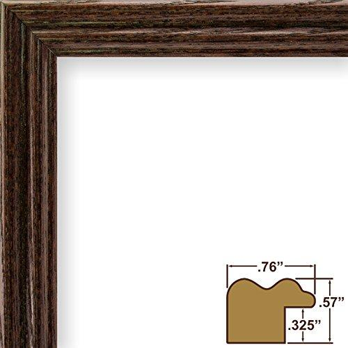 15X22 Picture / Poster Frame, Wood Grain Finish, .75 Wide, Cherry Red (200Ashch)