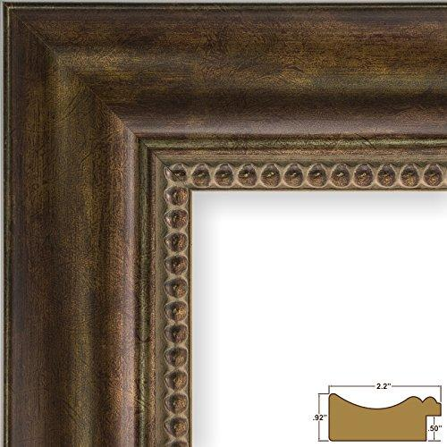 11X17 Picture / Poster Frame, Smooth Ornate Finish, 2.125 Wide, Antique Gold (9671)