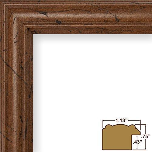 11X14 Picture / Poster Frame, Smooth Grain Finish, 1.13 Wide, Dark Brown (71616583)