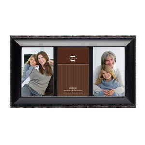 Mandalay Collage 3 Picture Frame - Black (4x6)