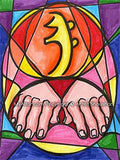 "Se Hei Ki Emotional Symbol Reiki Healing Hands Abstract 11"" x 14"" Art Print"