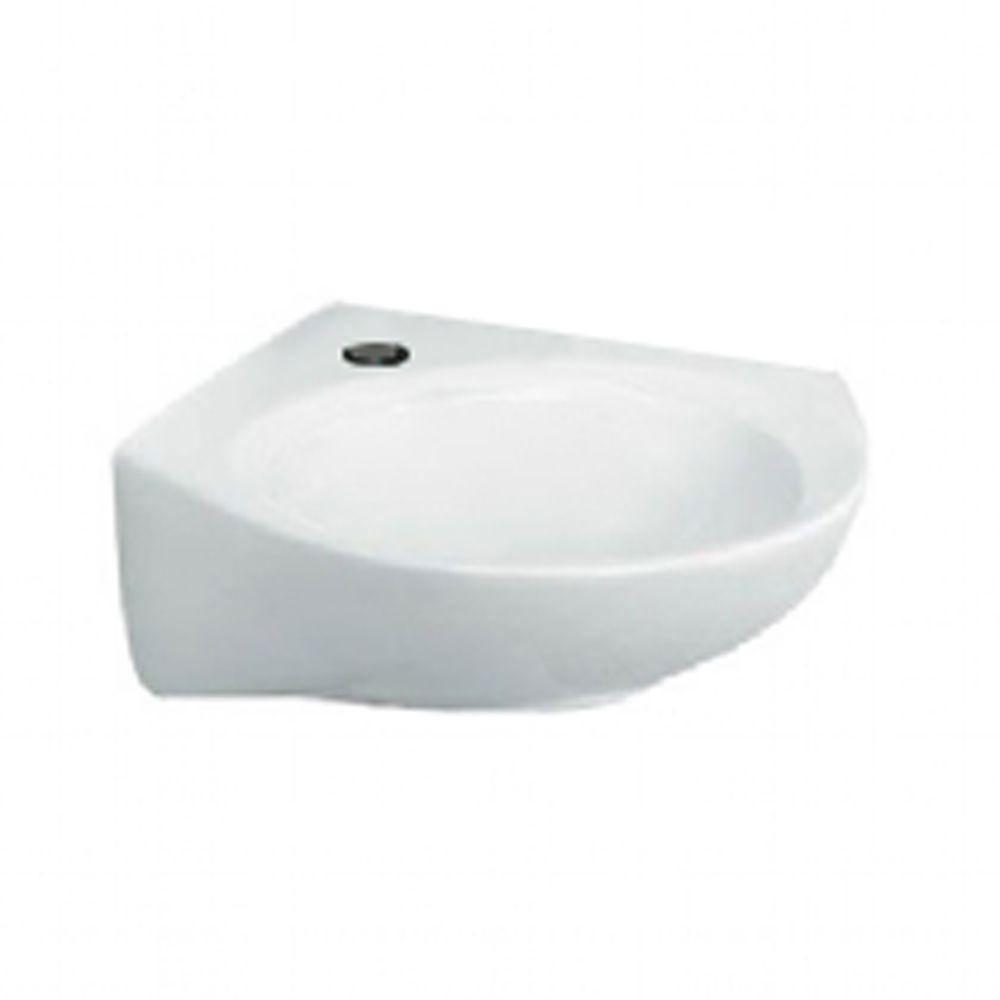 American Standard Cornice Corner Wall-Mount Bathroom Sink in White 512959