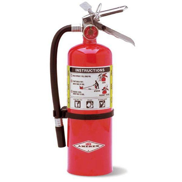 Amerex ABC Dry Chem Fire Extinguisher 5 lb. w/ Wall Hanger - AX402