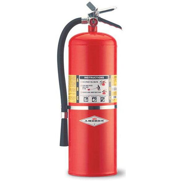 Amerex ABC Dry Chem Exting. 20 lb w/ Brass Valve & Wall Hanger - AX423