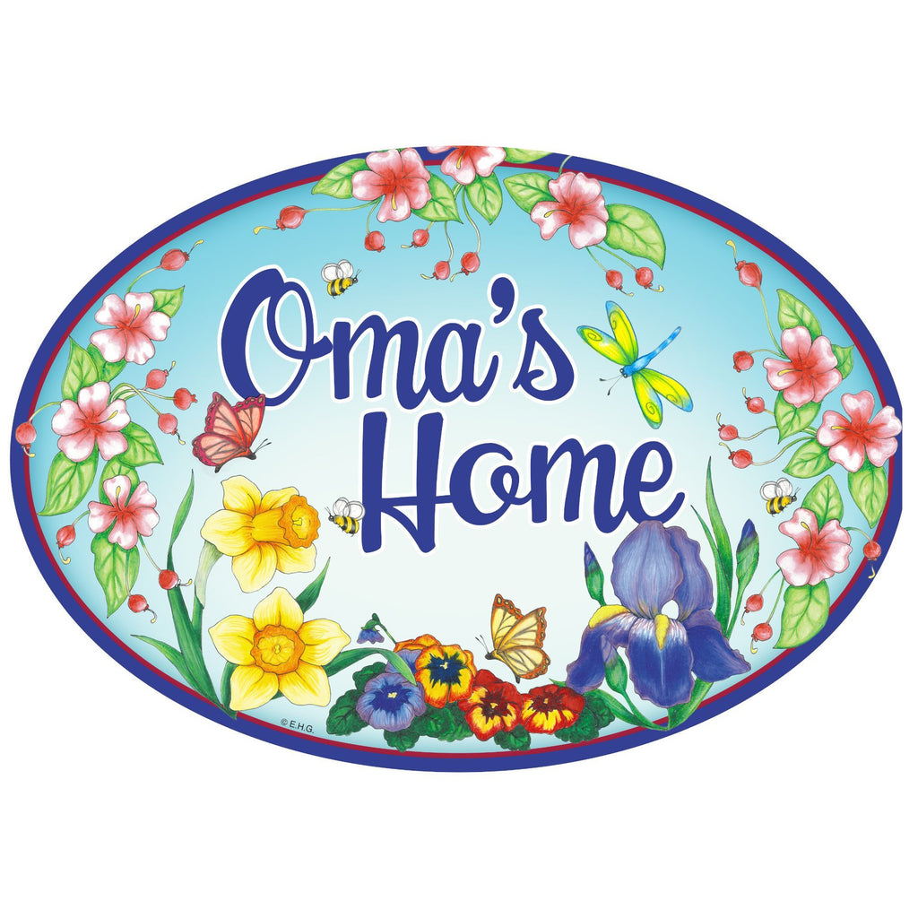 """Oma's Home"" Decorative Oma Gift Idea Ceramic Door Sign"