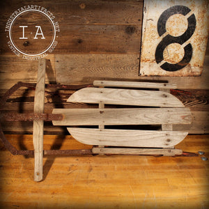 Vintage Industrial Runner Sled Wall Hanger Rustic Decor