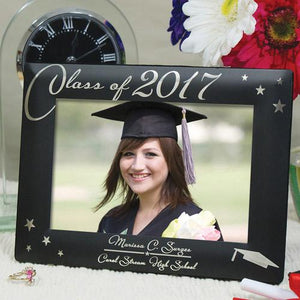 Engraved Black Graduation Picture Frame