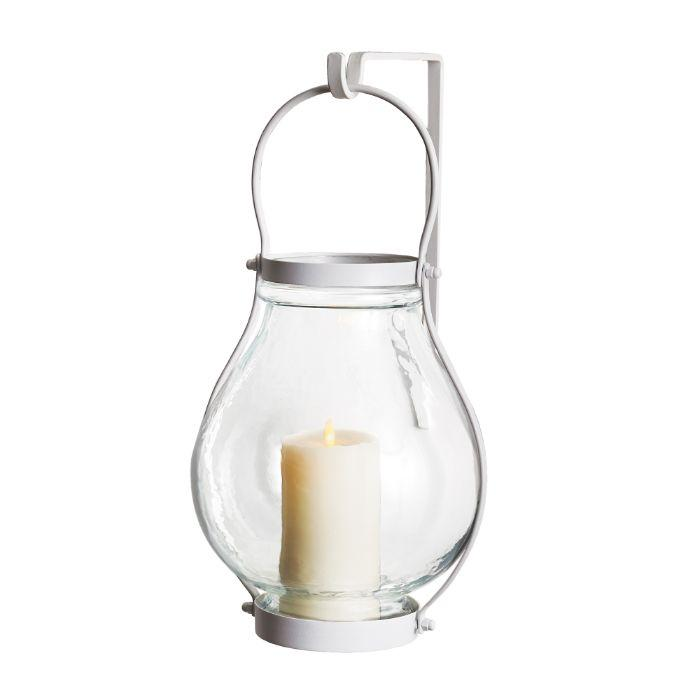 Sag Harbor White/Hammered Glass Lantern