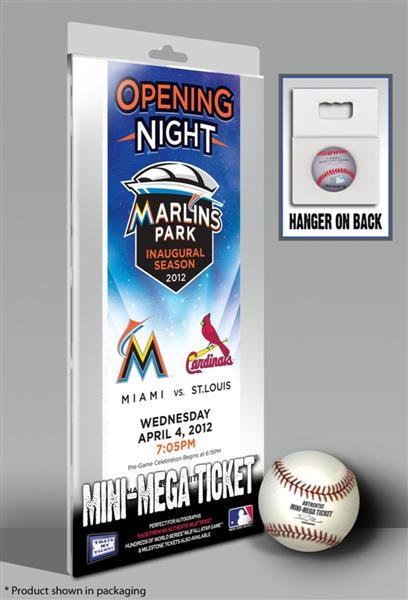 Miami Marlins 2012 Opening Day Mini Mega Ticket